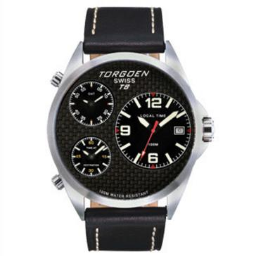 T08101 Dual Time, 3 Time Zones, 12 Hour Format